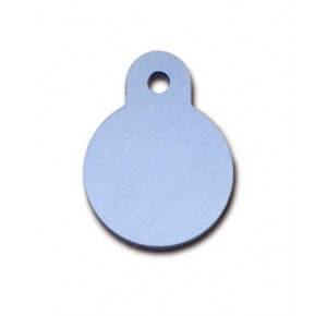 Penning rondje small pastel blauw