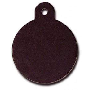 Penning rondje large zwart