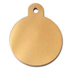 Penning rondje large goud