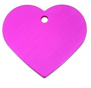 Penning hart large roze