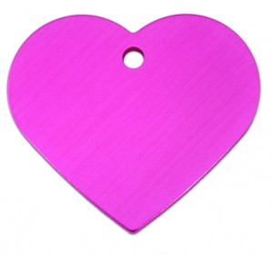 Tag heart large pink