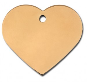 Tag heart large gold
