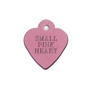 Tag heart small roze
