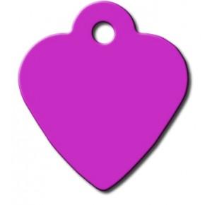 Tag heart small purple