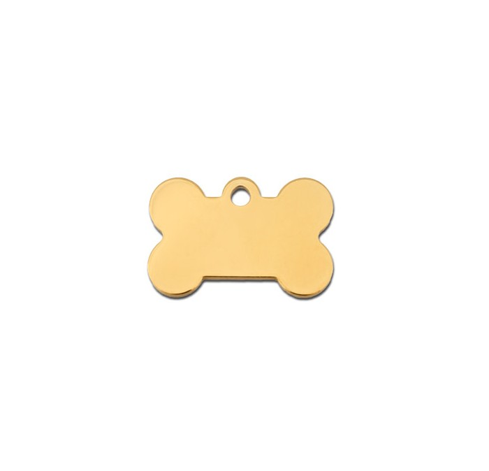 Tag bone small gold