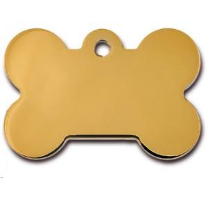 Tag bone large gold