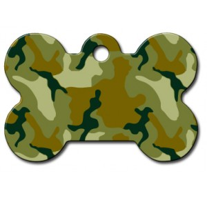 Tag bone large green camouflage