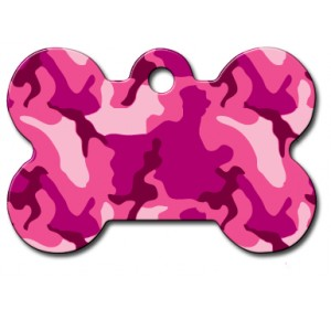 Penning kluif large roze camouflage
