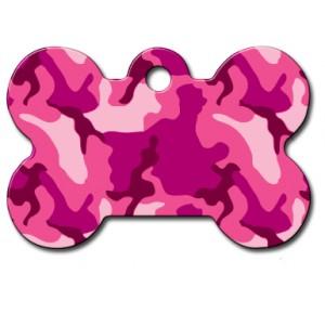 Tag bone large pink camouflage
