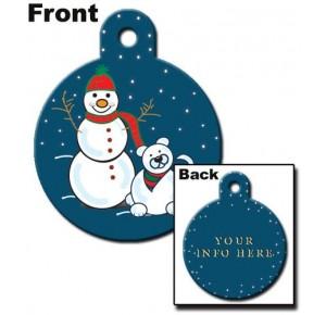 Tag cirkel large snowman
