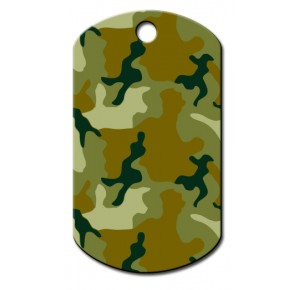 Militaire Tag  large groen camouflage
