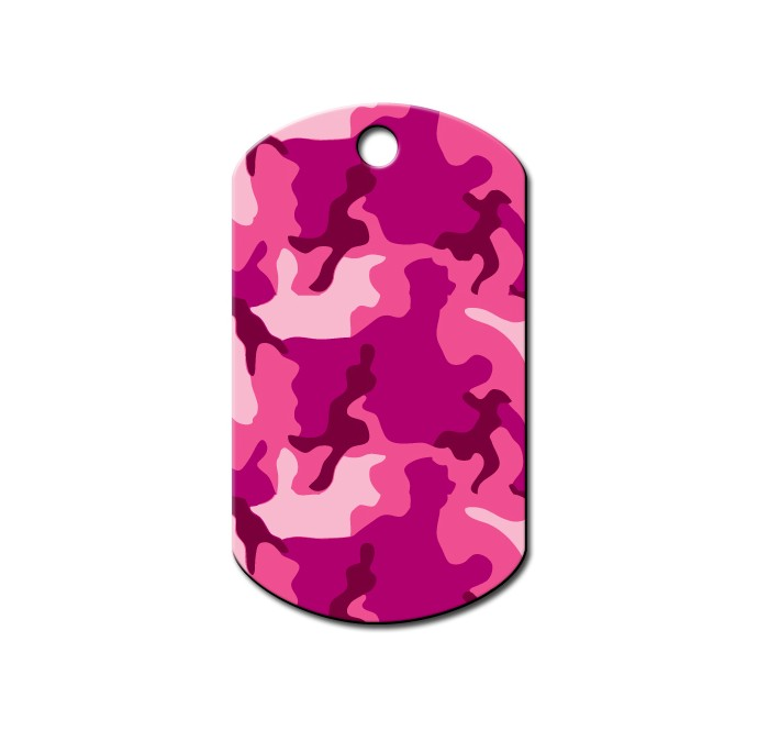Militaire Tag large pink camouflage