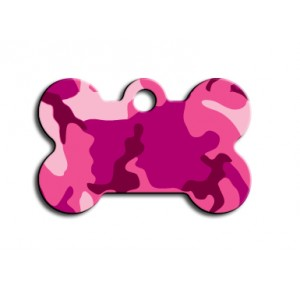 Penning kluifje small roze camouflage