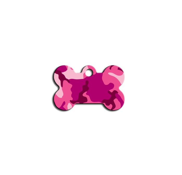 Tag bone small pink camouflage