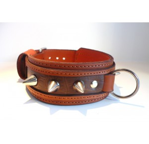 Power-Dogs  XL-PIT BLOW collar brown