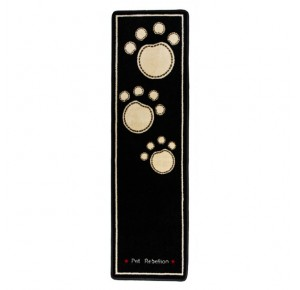 Dog Runner black with 3 paws