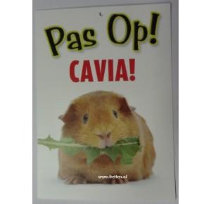 Waakbord Pas op Cavia! Otterhouse