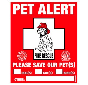 Pet Alert sticker