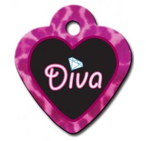 Tag heart small diva