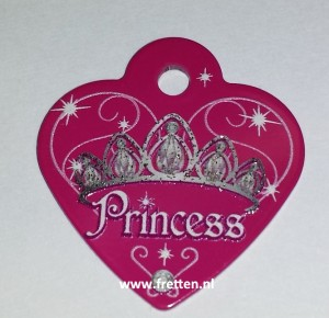 Penning hartje small princess hot pink