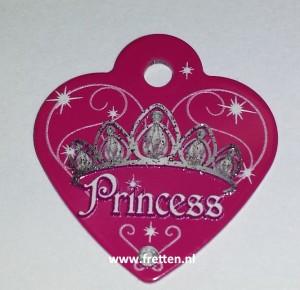 Tag heart small princess hot pink