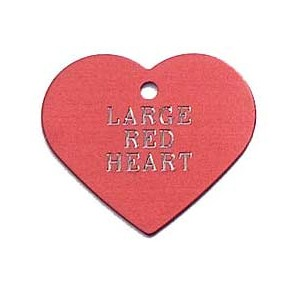 Tag heart large red