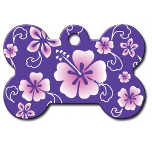 Tag bone large hawaii purple