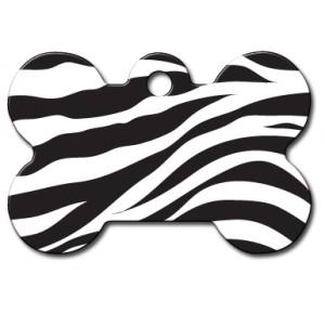 Tag bone large zebra