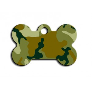 Tag bone small green camouflage