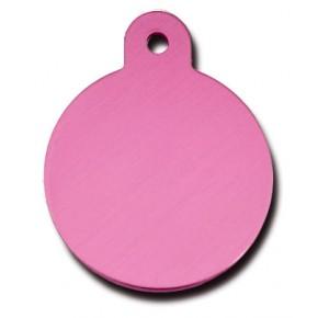 Penning rondje large roze