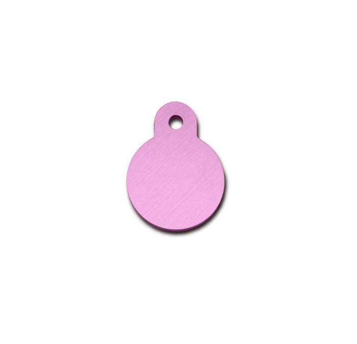 Penning rondje small pastel roze