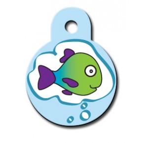 Penning rondje small vissen droom (kat)