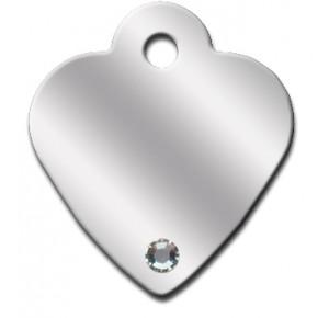 Penning Diva hart chroom small met heldere steen