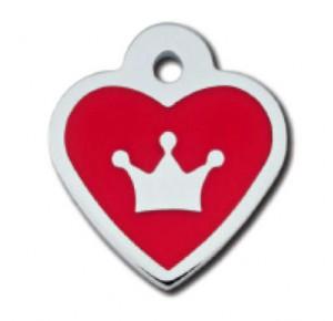 Tag heart small epoxy rood