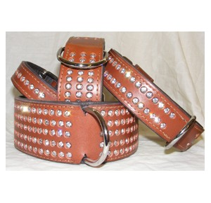 Power-Dogs Strass Stars collar brown