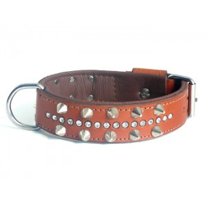 Power-Dogs Ruff Strass collar bruin