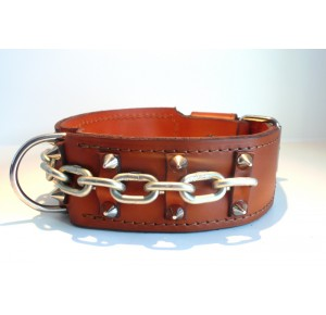 Power-Dogs  XL-Chain collar brown