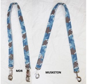 Power-dogs undercover splitleash Blue camouflage