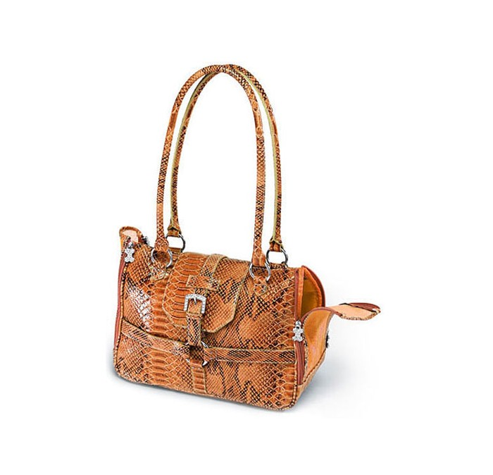 Chrome Bones Python Print Carrier Glossy Orange