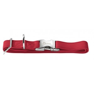 Hunter halsband Softie Alu-Strong rood