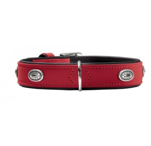 Hunter halsband Softie Stone rood/zwart