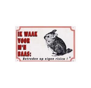 """Dutch chinchilla guard sign """"ik waak voor mijn baas"""""""