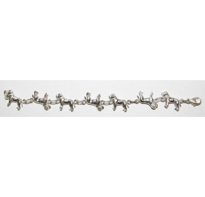Zilveren armband Bordeaux Dog