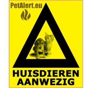Huisdier aanwezig sticker (1 sticker)