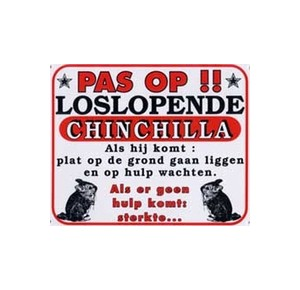"Dutch chinchilla guard sign ""PAS OP !! """