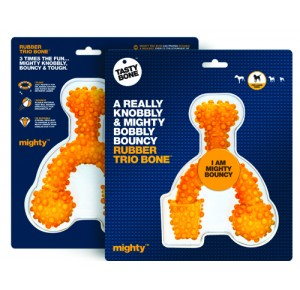 Mighty Tasty Bone Rubber Trio Large