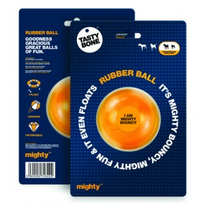 Mighty Tasty Bone Rubber Ball Small