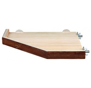 Trixie natural living wooden corner shelve 17 x 17 cm