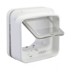 Sureflap microchip dualscan cat flap white