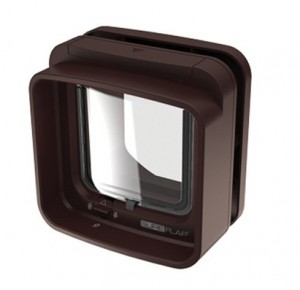 Sureflap microchip dualscan cat flap brown